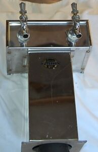 Double Tap Stainless Steel Draft Beer Tower Perlick 650ss Flow Control Faucets