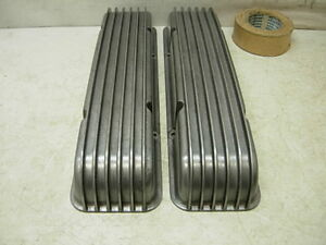 2 Vintage Cal Custom Aluminum Valve Covers 40 1000 1950s Chevy 283 327 Corvette