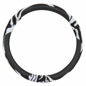 Pilot Automotive Zebra Steering Wheel Cover Fits 14 5 15 5
