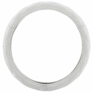Pilot Automotive Diamond Bling Universal Steering Wheel Cover Swr 0101 White