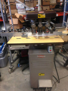 Challenge Eh 3a 3 spindle Paper Drilling Machine Used Working Eh 3