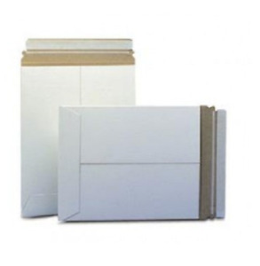 1 sample 2000 12 75x15 Rigid Stayflat White Photo Mailers Self Sealing