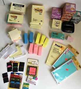 Huge Lot 100 Pad 10 000 Post it Sticky Notes Pads Pop Up Flags Magnet Most New