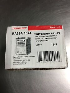 Honeywell Ra89a1074 Tradeline Switching Relay 120v 50 60hz Transformer New