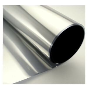 Window Film Solar Reflection One Way Mirror Tint Layer 36in X 12ft Silver 5