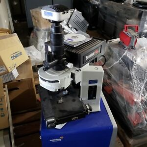 Olympus Bx51 With Deltanu Examiner 785 High Performance Raman Microscope Camera