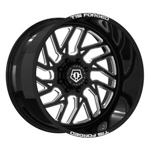 Tis F51bm1 Forged 1 Pc Directional 24x14 8x6 50 Offset 76 Blk Milled Qty Of 1