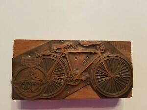 Antique Finely Detailed Copper Print Block Ad For smith Motorwheel
