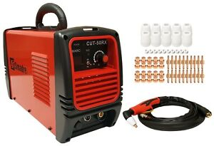 Plasma Cutter 30 Cons 50rx 110 220v 50 Amp 1 2 Cut Power Torch Simadre New