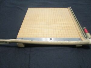 Vintage Ingento No 4 Guillotine Paper Cutter Pictures Cards Trimmer 12 x12 Usa