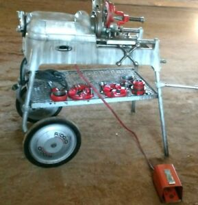 Ridgid 535 Pipe Threader With Rolling Stand And Dies