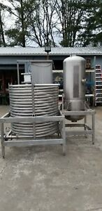 Coil Tube Mixer And Tank Set On Stand 304 Food Grade