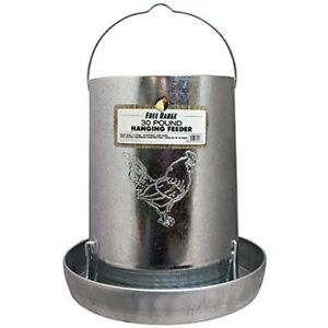 Metal Poultry Hanging Chicken Heavy Duty Galvanized Feeder Drink For Small Birds