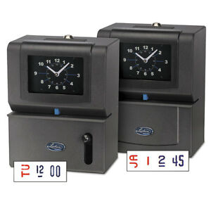 Lathem Time Heavy duty Time Clock Mechanical Charcoal 2121