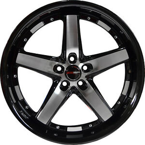 4 Gwg Drift 20 Inch Black Machined Rims Fits Ford Mustang 2005 2014