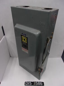 Square D 600 Volt 100 Amp Non Fused Disconnect Safety Switch dis3586