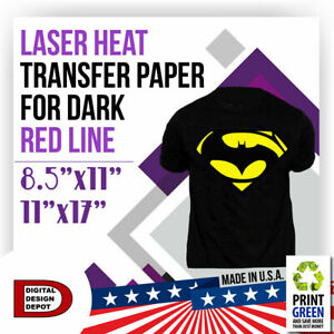 Red Line Heat Transfer Paper 11x17 50 Sheets