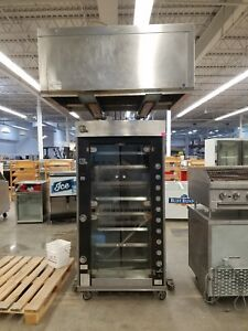 Used Rotisol G50 8 8 Spit Chicken Rotisserie With Hood