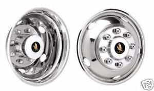 17 2012 2013 2014 Dodge 3500 Dually Wheel Covers Bolt On Stainless Steel New