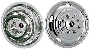 2014 Dodge Ram 3500 17 Dually Wheel Simulators Bolt On Stainless Hubcaps Liners