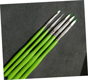 Dental Porcelain Brush Pen Teeth Lab Enamel Brushes Green 5size New
