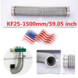 Flange Bellows Hose Kf 25 1500mm 59 05 Inch Tubing Iso kf Flange Size Nw 25