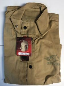 Revco Bsx Bxtn9c Khaki Fr Welding Jacket medium