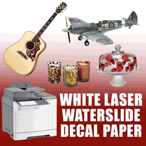 20 Sheets Premium Laser Waterslide Decal Paper White 11 X 17