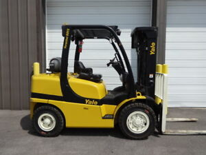 2006 Yale 8 000 Pound Pneumatic Forklift Model Glp080 With Only 1 419 Hours