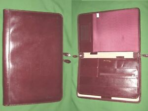 Note Pad 8 5x11 Red Leather Day Runner Planner Binder Franklin Covey Monarch 92
