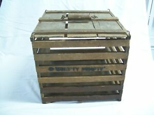 Antique Wood Egg Shipping Crate Humpty Dumpty Owosso Michigan