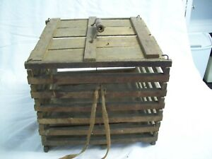 Antique Wood Egg Shipping Crate Made By Owosso Mfg Michigan Arkansas