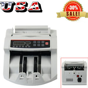Usa Led Money Bill Counter Counting Machine Counterfeit Detector Uv Mg Cash Sale