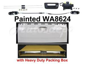 Painted Wa8624 Tailgate Handle Cable Latch Rod For Silverado 2007 13 W Keyhole
