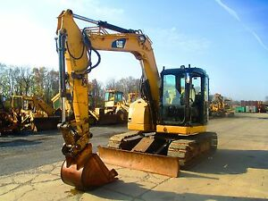 2007 Caterpillar 308d Hydraulic Excavator Full Cab Street Pads 4684 Hours