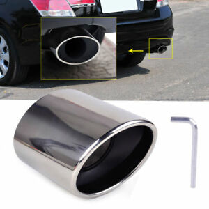 Exhaust Muffler Tail Tip Oval Pipe Chrome Stainless Steel For Honda Accord 08 12
