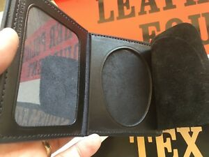 Beautiful Tex Shoemaker Police Basketweave 2 Id Wallet Oval Shield Lapd 3 3 8