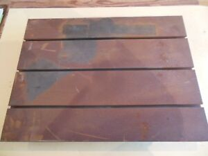 18 X 24 X 4 T slotted Layout Table 3 Slots Cast Iron Groton