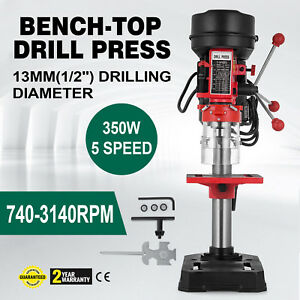 Drill Press Bench Top With Laser Led Light 10 In Drilling Variable 5 Speed