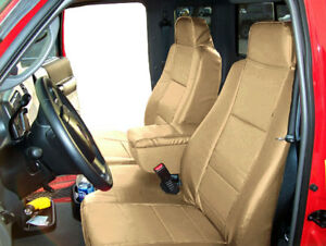 Ford Ranger 2004 09 Beige Leather Like Custom 2 Front Seat Console Covers