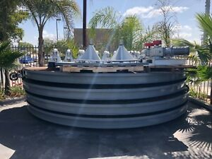 2 In Ground Car Turn Tables 10 000 Lbs 16ft With Electronics Variable Speed