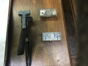 Vintage Livestock Dana Tattoo Gun Comes With 2 Sets Of Numeric Numbers 0 9