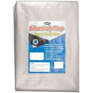 Sigman 20 Ft X 20 Ft Silver Heavy Duty Tarp Outdoor Water Resistant Protection