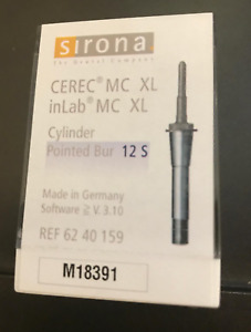 Cerec Sirona Inlab 12s Cylinder Pointed Burs In Box Sealed