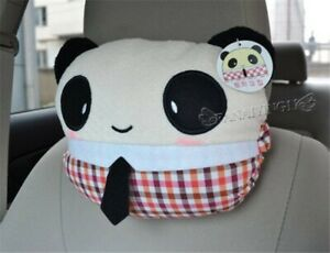 2pcs Boy And Girl Cute Panda Plush Car Head Neck Rest Pillow One Pair Ci018