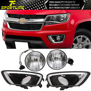 Fits 15 17 Chevy Colorado Front Fog Light Fog Lamp Lh Rh H3 12v 20w Clear Lens