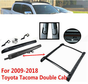 Fit 09 18 Toyota Tacoma Double Cab Stowaway Roof Rail Crossbars Rack Style Truck