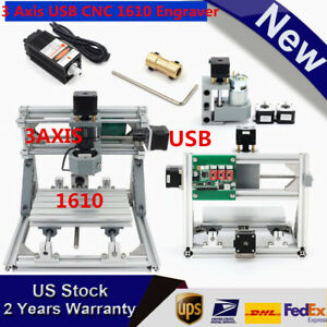 Diy Mini Cnc Router Kit 3 Axis1610 500mw Usb Laser Pcb Wood Milling Machine Top