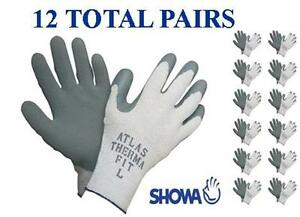 Showa 451 Atlas Therma Fit Insulated Winter Work Glove 12 Pair Choose Md lg xl