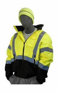 Majestic Glove 75 1313 Pu Coated Polyester High Visibility Bomber Jacket With